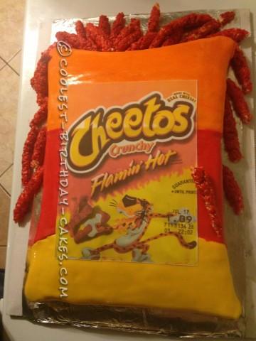Hot Cheetos Birthday Cake