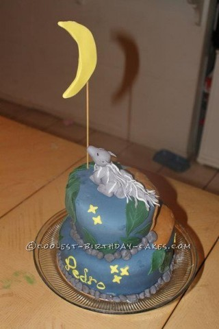 Howl at the Moon Wolf Topsy Turvy Cake