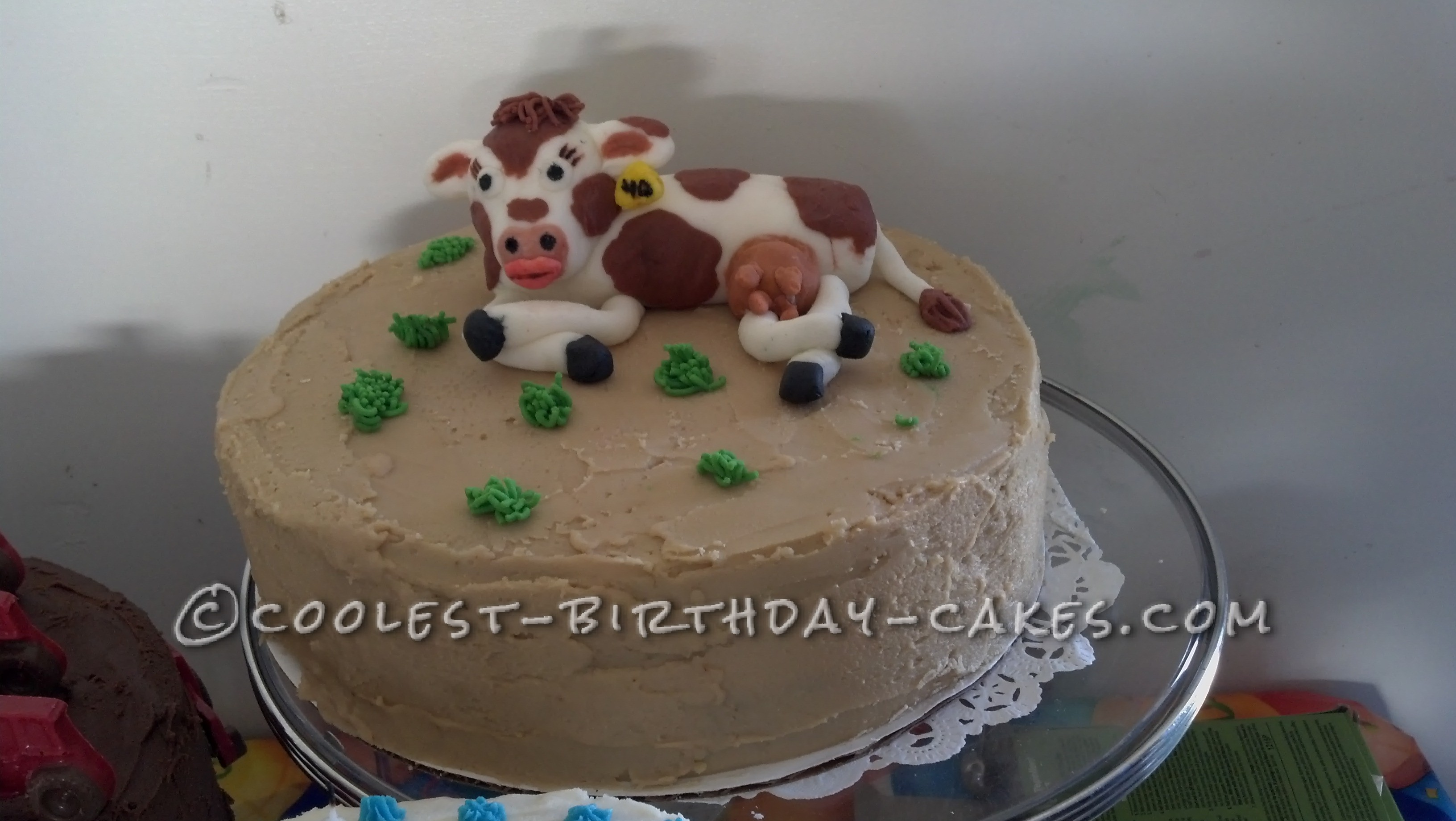 Coolest 40th Cow Birthday Cake