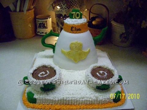 Irish Tea Set Birthday Cake