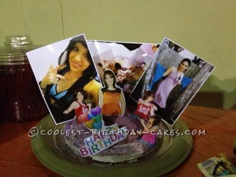 Custom Birthday Photo Collage Cake