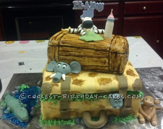 Coolest Jungle Baby Shower Cake