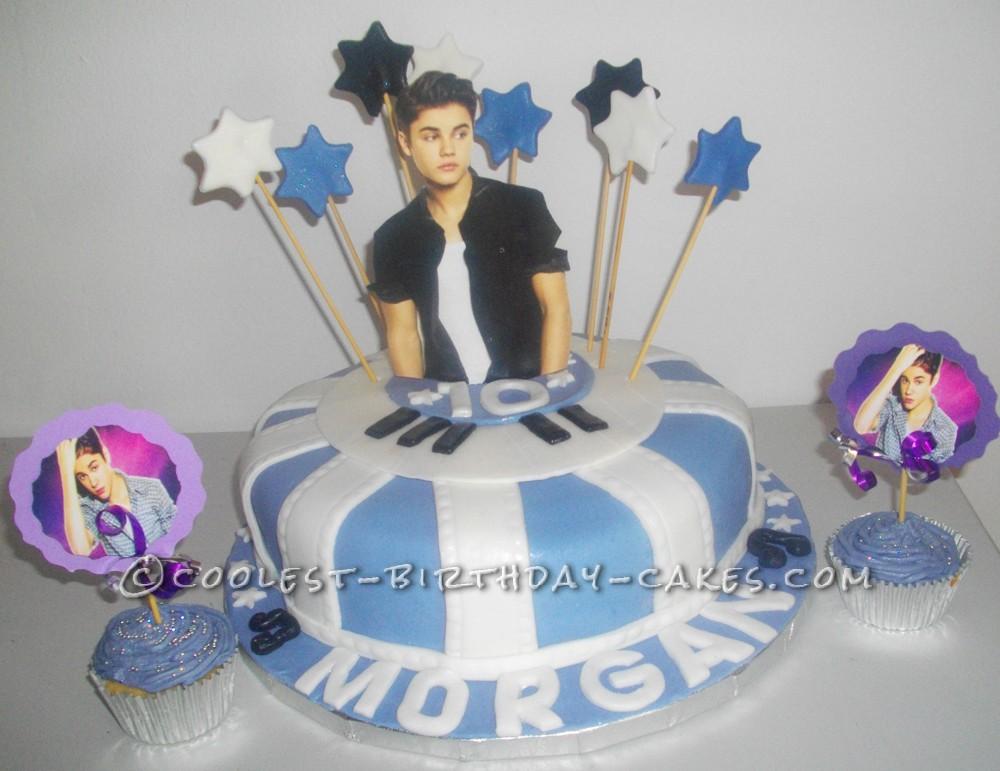 Astounding Coolest Justin Bieber Birthday Cake Funny Birthday Cards Online Elaedamsfinfo