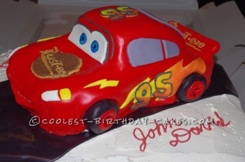 Coolest Lighting McQueen Cake