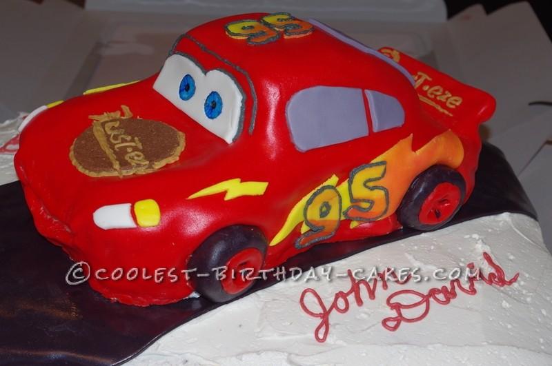 Coolest Lighting McQueen Cake