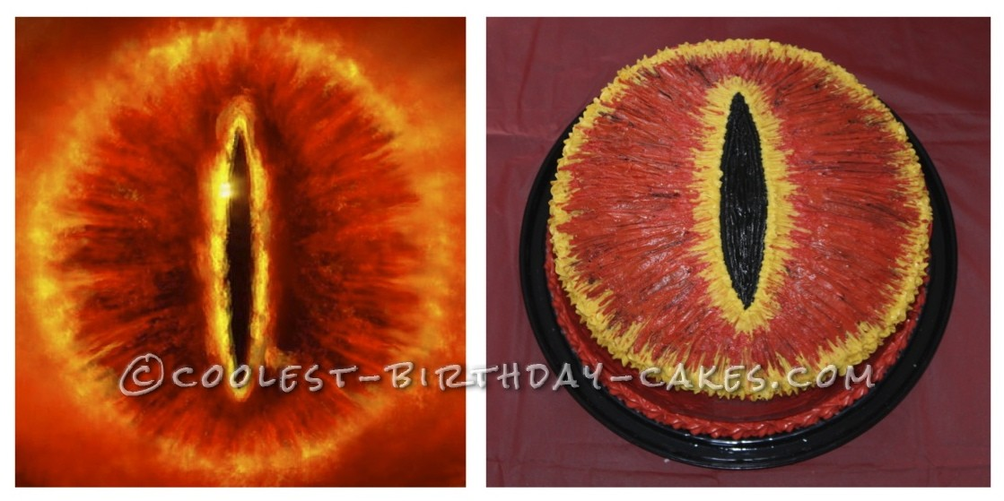 Lord of the Rings - Eye of Sauron Cake