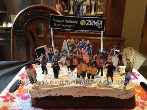 Birthday Bon Voyage Zumba Party Cake
