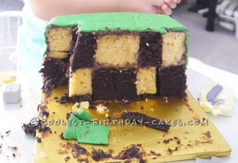 Minecraft Inspired Cake for Girls