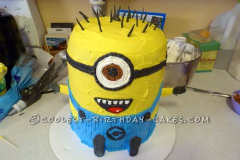 Coolest Minion Birthday Cake