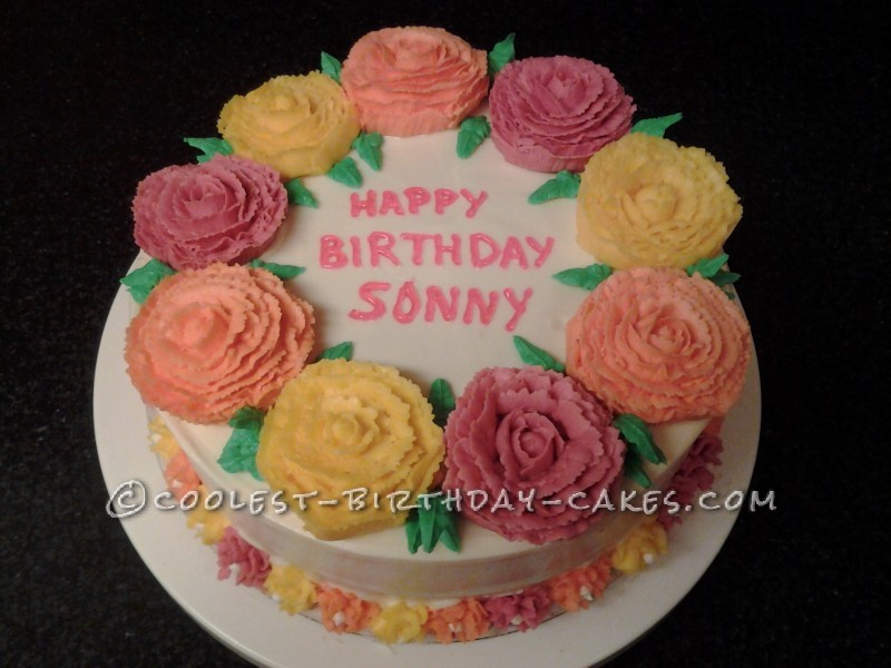 Mom's Flower Birthday Cake
