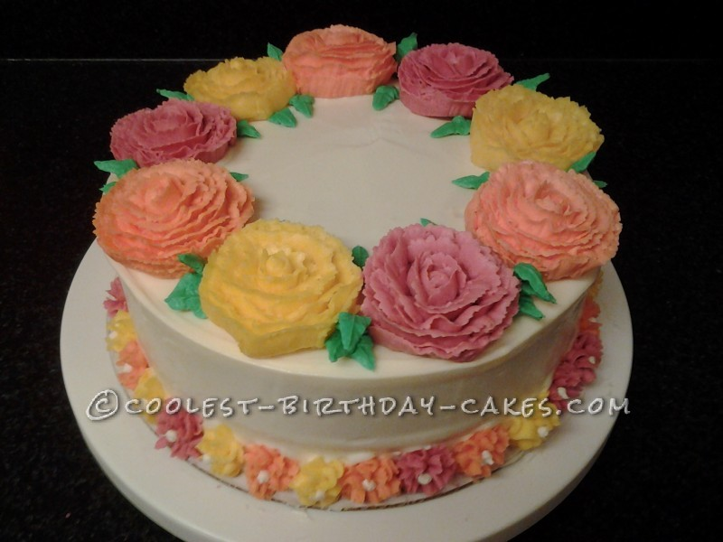 Mom S Flower Birthday Cake