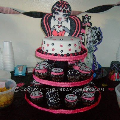 Awesome Coolest Monster High Cupcakes And Birthday Cake Funny Birthday Cards Online Fluifree Goldxyz