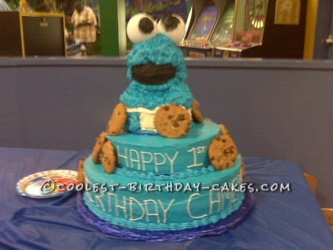 Coolest Cookie Monster Birthday Cake