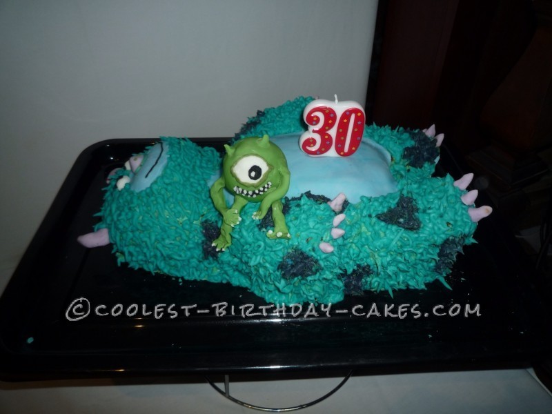 Cool Monsters Inc. Sulley Birthday Cake