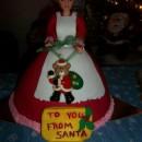 Last-Minute Mrs. Santa Claus Cake Design
