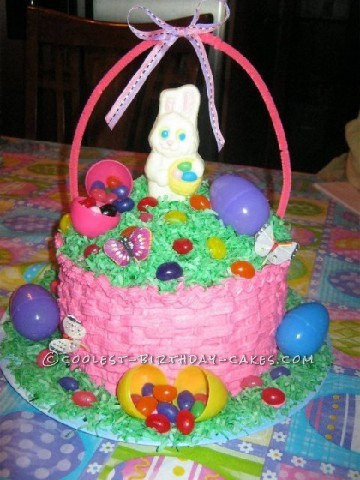 My First Coolest Easter Basket Cake