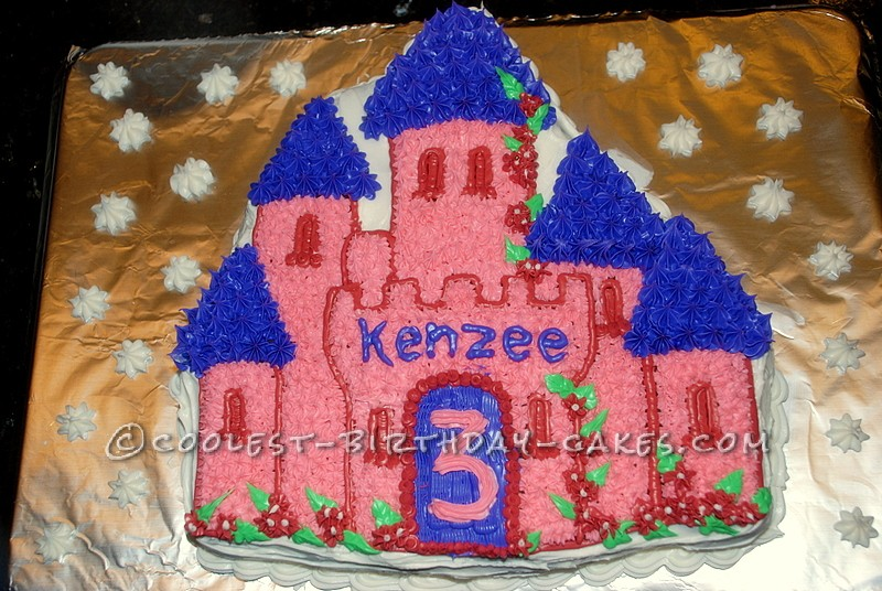 Castle Cake Using Wiltons Castle Cake Pan For My Princess