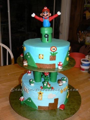 Cool Mario Birthday Cake