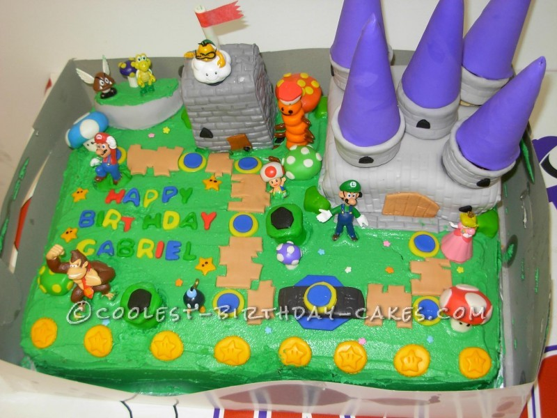 My Sons Super Idea For A Mario Bros Birthday Cake
