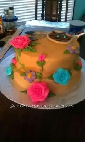 Native American Themed Birthday Cake