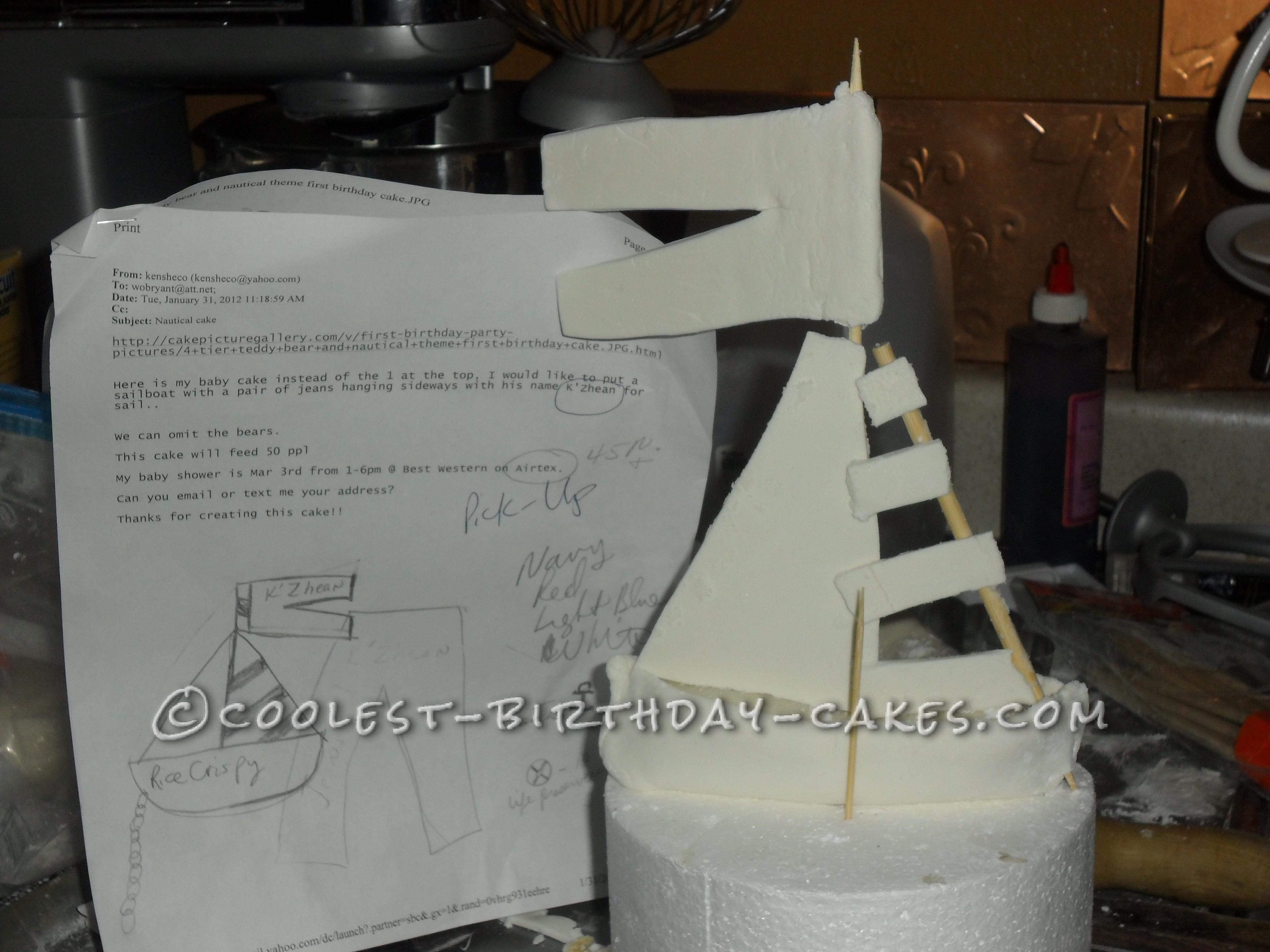 Cool Nautical Ship Lost at Sea Cake