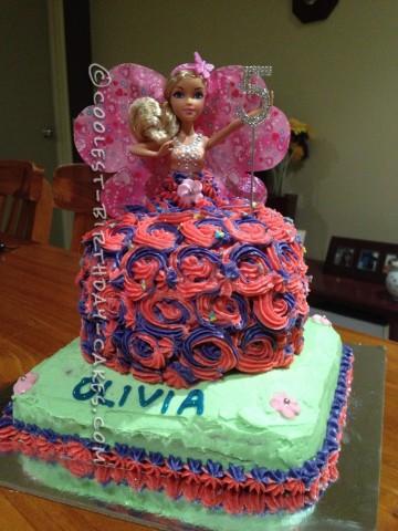 Olivia's 5th Birthday Barbie Doll Cake