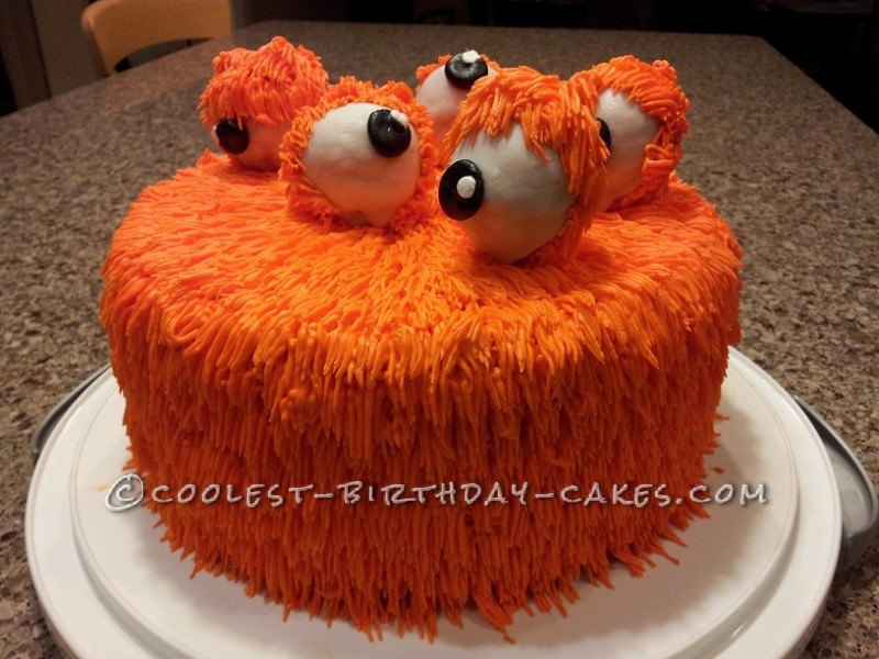 Coolest Orange Monster Cake