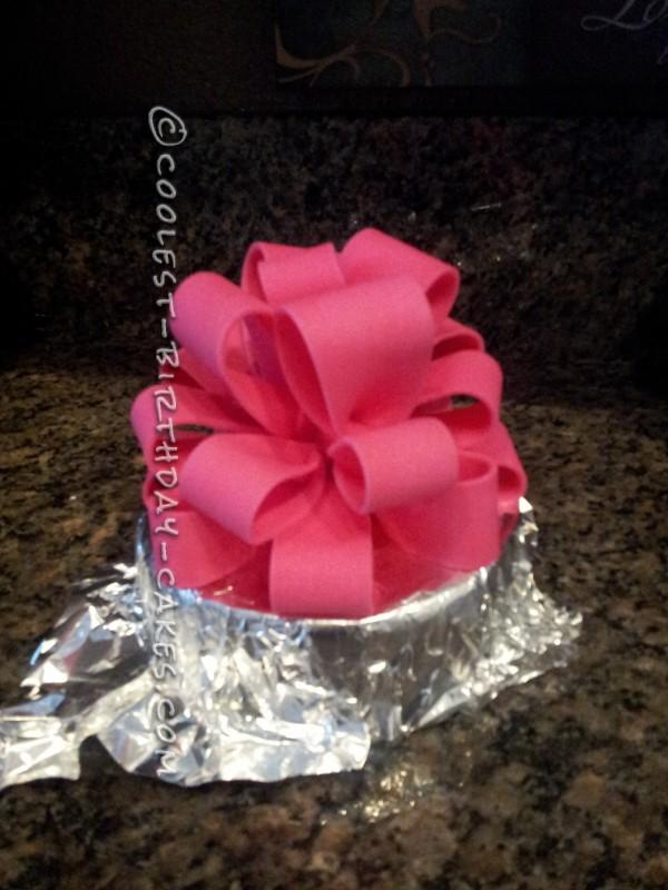 Coolest Pink and Black Damask Cake