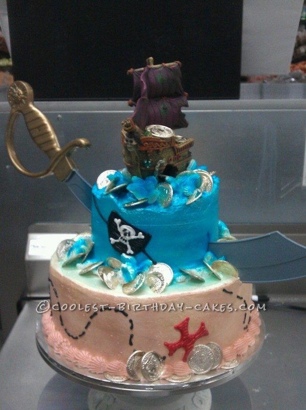 Awesome Pirate Birthday Cake