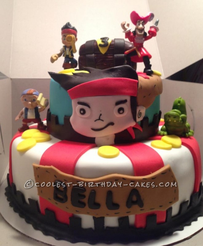 Enjoyable Cool Jake And The Never Land Pirates Cake Personalised Birthday Cards Epsylily Jamesorg