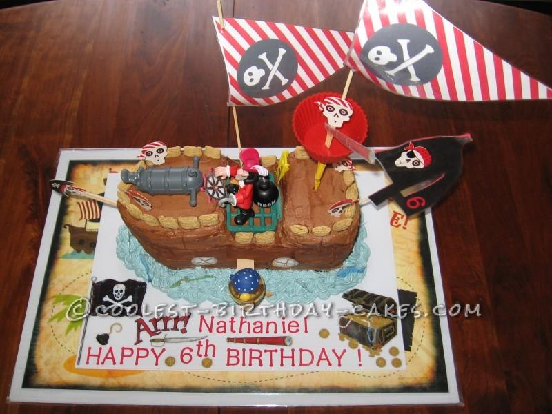 Coolest Pirate Ship Birthday Cake