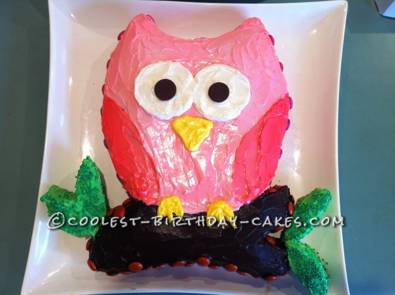Pretty Owl Cake for a Baby Shower