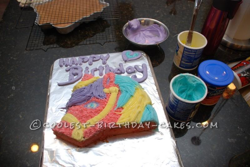 Cool Rainbow Pony Cake