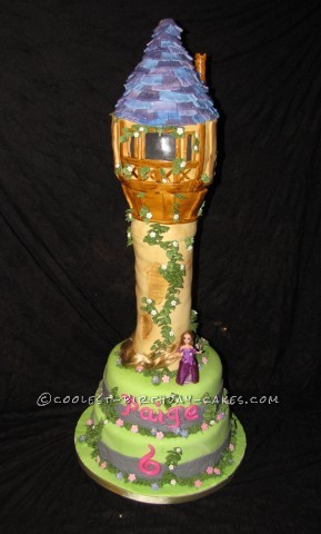 Coolest Rapunzel Tower Birthday Cake