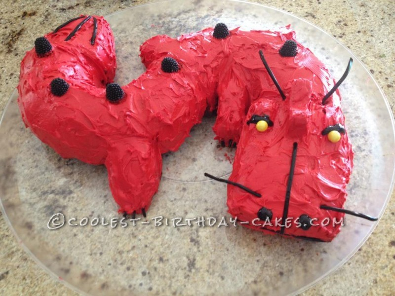 Red Dragon Cake for 10-Year-Old Boy