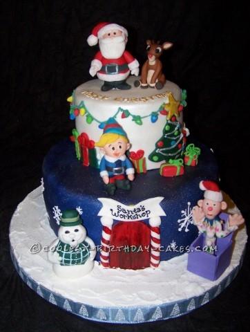 Coolest Christmas Scene Cake