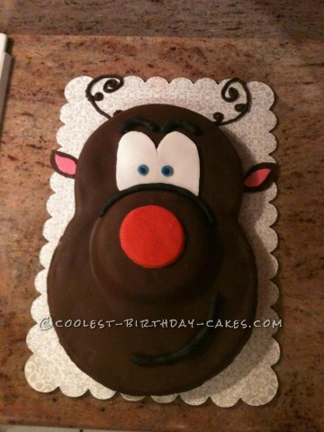 Coolest Rudolph the Reindeer Christmas Cake