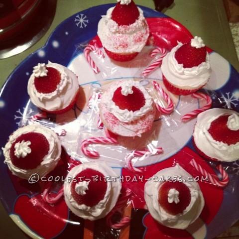Coolest Santa Hat Christmas Cupcakes