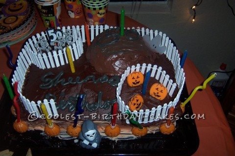Scary Halloween Birthday Cake