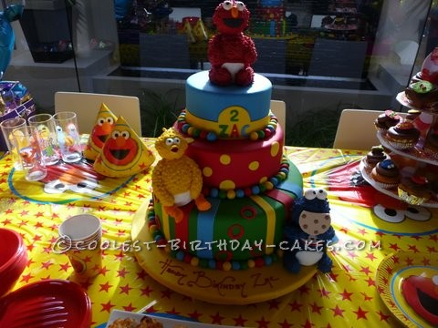 A Tasty 2-Year-Old Sesame Street Birthday Cake