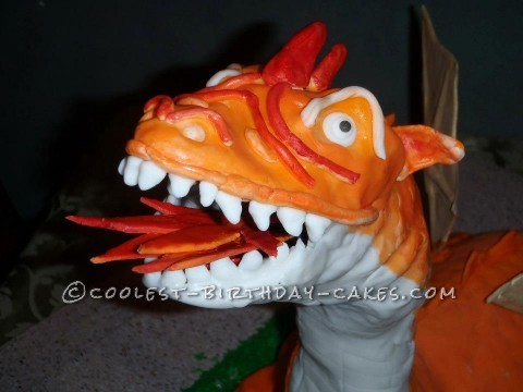 Awesome 3D Fire-Breathing Dragon Cake