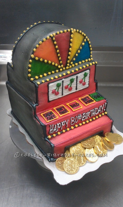 Coolest Slot Machine Birthday Cake