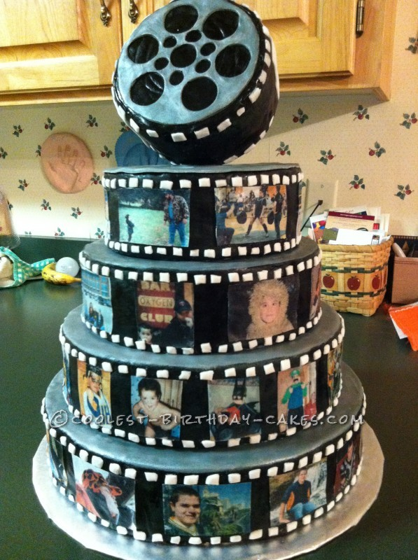 Coolest Snap Shot Photo Reel Birthday Cake
