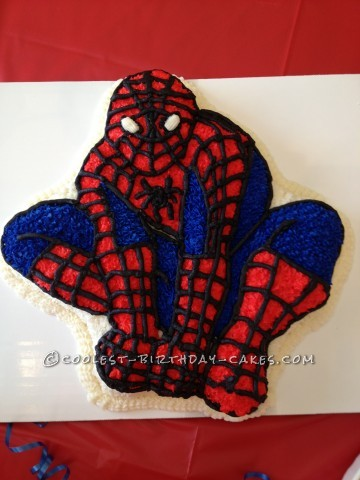 Spiderman Birthday Cake Using the Wilton Cake Pan