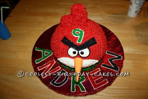 Step-by-Step Red Angry Bird Cake