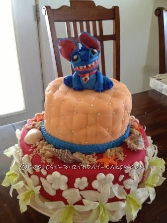 Coolest Stitch on the Beach Birthday Cake