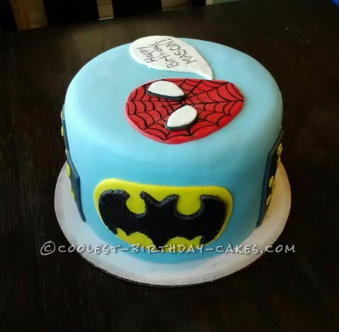 Super Hero Personalized Birthday Cake