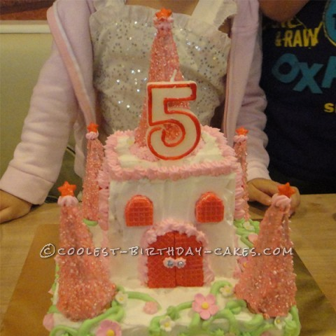 Sweet Princess Castle Cake