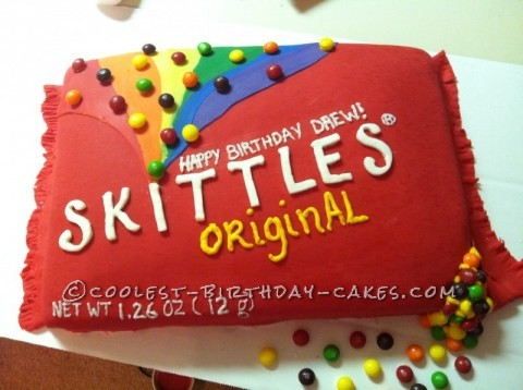 Sweetest Skittles Birthday Cake