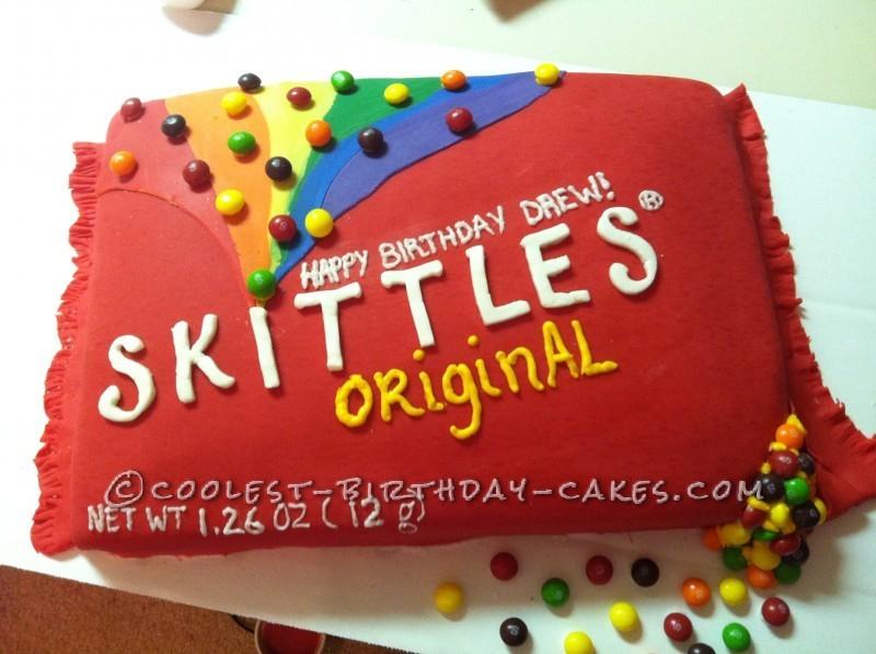 Sweetest Skittles Birthday Cake